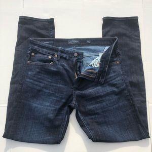 Lucky Brand 110 Skinny Coolmax Dark Wash Jeans, 33